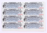 Uncut Sheet of (8) 1897 $17.50 Seventeen Dollars and Fifty Cents New York Central and Hudson River Railroad Company Bank Bonds