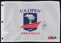 Rickie Fowler Signed 2019 U.S. Open Pin Flag (JSA COA)