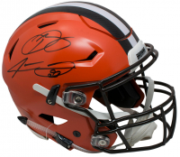 Odell Beckham Jr. & Jarvis Landry Signed Cleveland Browns Full-Size Authentic On-Field SpeedFlex Helmet (JSA COA)