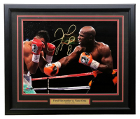 Floyd Mayweather Signed 22x27 Custom Framed Photo (PSA Hologram & Sports Integrity COA)