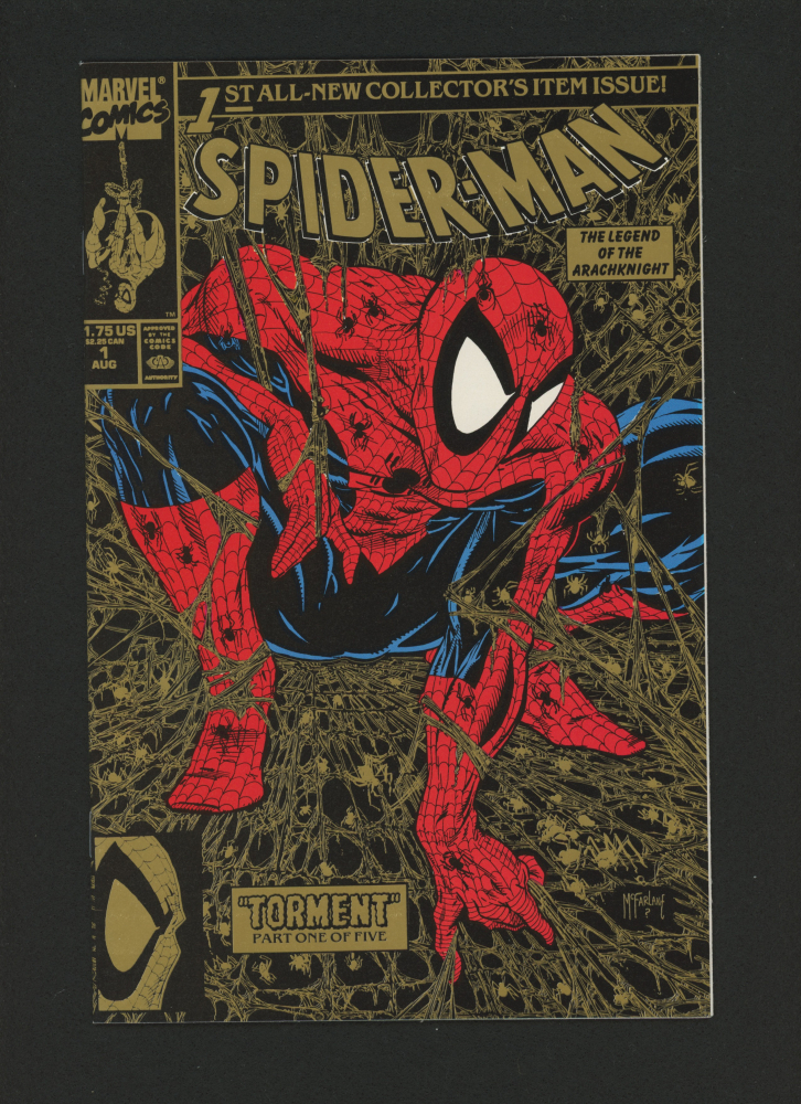 """1990 """"Spider-Man"""" Gold Issue #1 Marvel Comic Book at PristineAuction.com"""