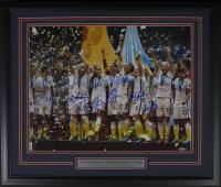 2015 Team USA Women's World Cup 22x27 Custom Framed Photo Team-Signed by (9) with Carli Lloyd, Julie Ertz, Morgan Brian, Shannon Boxx (TriStar Hologram)