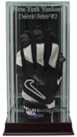 Derek Jeter Signed Nike Game-Used Batting Glove with High Quality Display Case (Steiner LOA)
