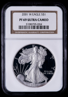 2001-W American Silver Eagle $1 One-Dollar Coin (NGC PF69 Ultra Cameo)