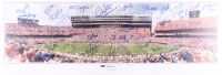 "2006 Florida Gators National Championship 13.5x39 Panoramic Photo Signed By (38) with Chris Leak, Percy Harvin, Brandon Spikes, Dallas Baker, Reggie Nelson Inscribed ""2006 BSC MVP"" (Palm Beach COA)"