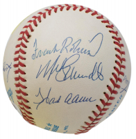 500 Home Run Club OAL Baseball Signed by (11) with Mickey Mantle, Ted Williams, Willie Mays, Harmon Killebrew, Frank Robinson with High-Quality Display Case (PSA LOA) at PristineAuction.com