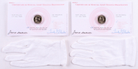 Lot of (2) Uncirculated 2007 James Madison Presidential Dollars with Protective Gloves