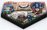 Yogi Berra Signed New York Yankees Mini Home Plate 3D Pop Art Hand-Painted by Charles Fazzino (Beckett COA & Fazzino LOA) at PristineAuction.com