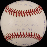 Bob Gibson Signed OML Limited Edition Baseball with Multiple Stat Inscriptions (ReggieJackson.com COA) at PristineAuction.com