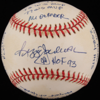Reggie Jackson Signed OAL Limited Edition Baseball with Multiple Stat Inscriptions (HMG COA) at PristineAuction.com