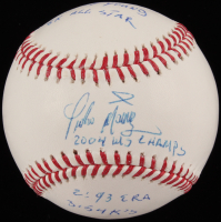 Pedro Martinez Signed OML Baseball with Multiple Stat Inscriptions (PSA Hologram) at PristineAuction.com