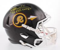 "Joe Theismann Signed Washington Redskins Full-Size Hydro-Dipped Speed Helmet Inscribed ""SB XVII Champs"" (Beckett COA)"
