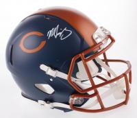 Mike Singletary Signed Chicago Bears Full-Size Authentic On-Field Matte Blue Speed Helmet (Beckett COA)