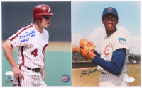 Lot of (2) Baseball 8x10 Photos with Lenny Dykstra, & Fergie Jenkins (JSA COA)