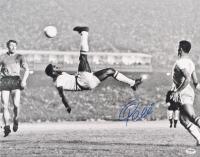 "Pele Signed Brazil ""1965 Bicycle Kick"" 16x20 Photo (PSA COA) at PristineAuction.com"