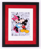 "Walt Disney's ""Mickey & Minnie Mouse"" 16x19 Custom Framed Hand-Painted Animation Serigraph Display"