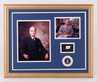 Harry S. Truman 18x22 Custom Framed Display with (1) Hand-Written Word From Letter (JSA LOA Copy)