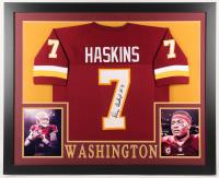 Dwayne Haskins Signed Washington Redskins 35x43 Custom Framed Jersey (JSA COA)