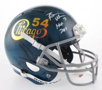 "Brian Urlacher Signed Chicago Bears Full-Size Authentic On-Field Hydro Dipped Helmet Inscribed ""HOF 2018"" (Beckett COA)"