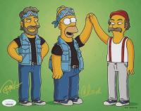 "Tommy Chong & Cheech Marin Signed ""The Simpsons"" 8x10 Photo (JSA COA)"