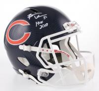 """Brian Urlacher Signed Chicago Bears Full-Size Hydro Dipped Speed Helmet Inscribed """"HOF 2018"""" (Beckett COA)"""