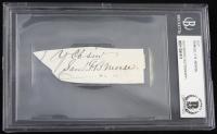 Samuel Morse Signed Cut (Beckett Encapsulated)