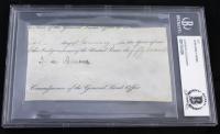 John Quincy Adams Signed Cut (Beckett Encapsulated)