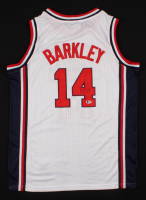 Charles Barkley Signed Team USA Jersey (Beckett COA)