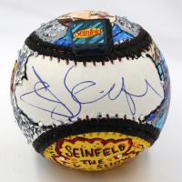 """Jerry Seinfeld Signed """"Seinfeld"""" Baseball Hand-Painted by Charles Fazzino (JSA COA & Fazzino LOA)"""