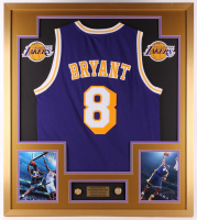 Kobe Bryant Los Angeles Lakers 32x36 Custom Framed Jersey with Championship Rings