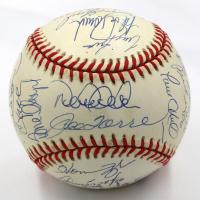 New York Yankees 1998 World Series Baseball Team-Signed by (29) with Joe Torre, Derek Jeter, Mariano Rivera, Andy Pettitte (JSA LOA)