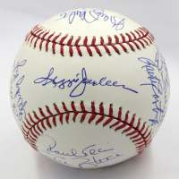 1977-78 New York Yankees OML Baseball Team-Signed by (18) with Yogi Berra, Goose Gossage, Sparky Lyle, Reggie Jackson (Steiner COA & MLB Hologram) at PristineAuction.com