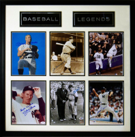 """Baseball Legends"" 30.5x30.5 Custom Framed Photo Display Signed by (6) with Mickey Mantle, Joe DiMaggio, Yogi Berra, Whitey Ford, Derek Jeter & Mariano Rivera (JSA LOA & Steiner Hologram)"