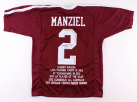 Johnny Manziel Signed Texas A&M Aggies Career Highlight Stat Jersey (JSA COA)