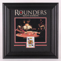 "Matt Damon Signed ""Rounders"" 18x18 Custom Framed Card Display (JSA COA)"