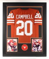 """Earl Campbell Signed 35x43 Custom Framed Jersey Inscribed """"HT 77"""" (JSA COA)"""