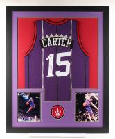 Vince Carter Signed 35x43 Custom Framed Jersey (Beckett COA) at PristineAuction.com