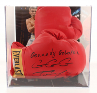 "Gennady Golovkin Signed Everlast Boxing Glove Set Inscribed ""GGG"" with Display Case (PSA COA)"