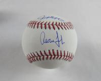 Aaron Judge & Giancarlo Stanton Signed OML Baseball (Fanatics & MLB Hologram)