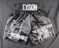 "Mike Tyson Signed ""Iron Mike"" Boxing Trunks (JSA Hologram) at PristineAuction.com"
