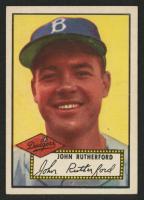 1952 Topps #320 John Rutherford RC
