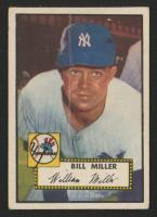 1952 Topps #403 Bill Miller RC