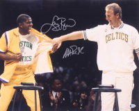 Larry Bird & Magic Johnson Signed 16x20 Photo (Beckett COA)