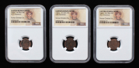 Lot of (3) Ancient Roman - Emperor Valens AD 364-378 Ancient Bronze Coin - Portrait Label (NGC Certified) at PristineAuction.com