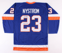 "Bob Nystrom Signed New York Islanders Jersey Inscribed ""4x SC Champs"" (JSA COA)"