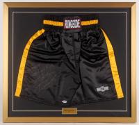 """Gennadiy """"Triple G"""" Golovkin Signed 27x30 Custom Framed Boxing Trunks Display (PSA COA)"""