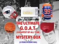 The Ultimate G.O.A.T. Mystery Box – Series 1 (Limited to 123) (5 Autographs Per Box)