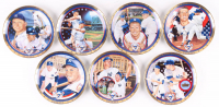 """Lot of (7) LE Mickey Mantle """"A Salute to Mickey Mantle"""" Sports Impressions Porcelain Plate"""
