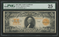 1922 $20 Twenty Dollars U.S. Gold Certificate Large Size Bank Note (PMG 25) at PristineAuction.com
