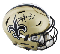 "Alvin Kamara Signed New Orleans Saints Full-Size Authentic On-Field SpeedFlex Helmet Inscribed ""AK 41"" (Radtke COA) at PristineAuction.com"